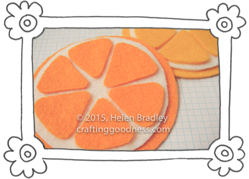 oranges and lemons felt emboidery 2 Sewing Felt Oranges and Lemons