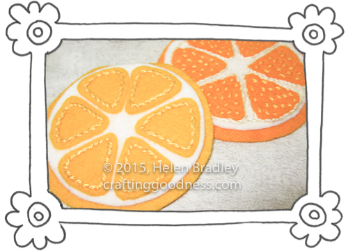 oranges and lemons in felt 2 Sewing Felt Oranges and Lemons